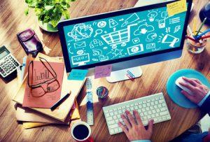 46874916 - online marketing strategy branding commerce advertising concept